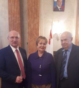 Treffen mit Wirtschaftsdelegation des nordrussischen Gebiets Wologda